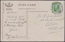 NEW ZEALAND CHRISTMAS RP POSTCARD KEVII WERAROA J-CLASS CDS - Briefe U. Dokumente