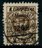 MEMEL 1923 Nr 140 Zentrisch Gestempelt Gepr. X6D12F6 - Klaïpeda