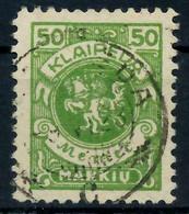 MEMEL 1923 Nr 145 Zentrisch Gestempelt Gepr. X7B242E - Klaïpeda