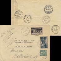 """FRANCE 1951 LSC Par """"EXPRÈS"""" De Beaugency à Zurich, Suisse - Affrt 95fr (Yv.719, 842A, 843) - 1921-1960: Periodo Moderno"""