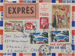 FRANCE 1970 LSC AVION Par EXPRÈS De CHATENAY-sur-SEINE Pour Ottawa, CANADA - 1961-....