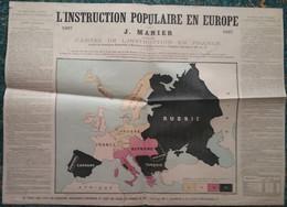Affiche - L' INSTRUCTION POPULAIRE EN EUROPE - 1867 - Second EMPIRE - - Other