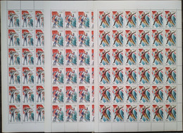 Russia, 1998, Mi. 643-45, Y&T 6329-31, Sc. 6438-40, SG 6745-47, Winter Olympic Games, Nagano, MNH - Volledige Vellen