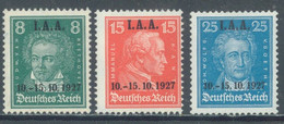 REICH - 1927 - MNH/*** LUXE - I.A.A. OVERPRINT - Mi 407-409 Yv 398-400 - Lot 22980 - Unused Stamps