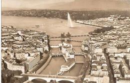 Suisse  GENEVE -   Les 6  Ponts Sur Le Rhone  Et La Rade - ( Vue Aérienne ) - GE Ginevra