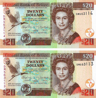 BELIZE 2012 20 Dollar - P.72 Neuf UNC - Belize