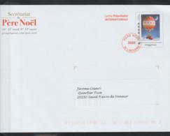 Entier Enveloppe TSC Pour La Poste . Lettre Du Père Noël 2020. - Prêts-à-poster:Stamped On Demand & Semi-official Overprinting (1995-...)