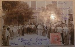 CPA PALMA DE MALLORCA (BALEARES) - RARA TARJETA 1906 TAUROMACHIE CORRIDA - GRAN PLAN, MUCHAS PERSONAS - TAURO - FOTO - Palma De Mallorca