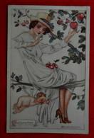 CPA 1919 Illustrateur Mauzan Calendrier Mois Settembre/ Femme, Ange - Mauzan, L.A.
