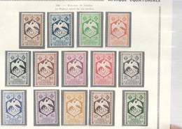 AEF 1941 N°141 à 154 Neuf** - Unused Stamps