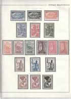 AEF 1947 Entre N°208 à 226 Neuf* - Unused Stamps