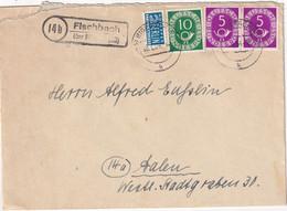 BUND 1954 LETTRE DE FISCHBACH ÜBER BIBERACH - Covers & Documents