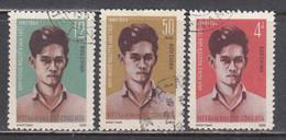 Vietnam Nord 1965 - (2) 11th Anniversary Of The Geneva Indochina Agreement, Mi-Nr. 376/78, Used - Viêt-Nam