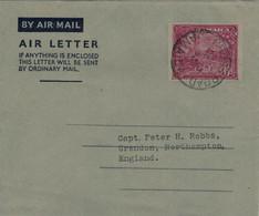 Jamaica Cross Road Airletter 1933 - Georg V. - Priestmans River - Aerogramm - Jamaica (...-1961)