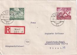 ALLEMAGNE 1944 LETTRE RECOMMANDEE DE WIEN AVEC CACHET  ARRIVEE INNSBRUCK - Covers & Documents