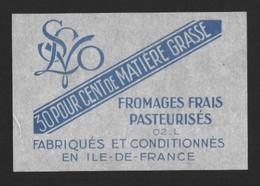 Etiquettes De Fromage  Frais Pasteurisés  02.L   Neuve. - Formaggio