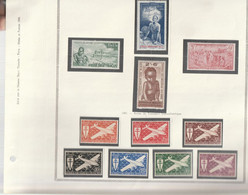 AEF Poste Aerienne 1941 à 1942 Neuf* - Unused Stamps