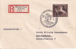 ALLEMAGNE 1939 LETTRE RECOMMANDEE DE MÜNCHEN-RIEM AVEC CACHET ARRIVEE BAD NAUHEIM - Covers & Documents