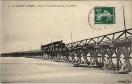 CPA St-VALÉRY-sur-SOMME Pont Sur La Baie De Somme LOCOMOTIVE (807543) - Saint Valery Sur Somme