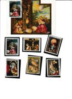 Carte PJ Cotonou Dahomey Tableau De Noël Vierge à L'enfant De Grunewald + 6 Timbres Différents Pays - Altri - Africa
