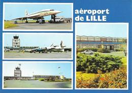 CP  Concorde Air France. Aéroport De Lille. Edit. Cim 59-350 - Zonder Classificatie