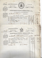 PONTOISE 1813 Et 1814 CONTRIBUTIONS DIRECTES - Manoscritti