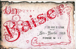 BETHUNE-COMPAGNIE DES MINES-SAINTE BARBE 1913-UN BAISER - Bethune