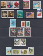 1989 ** Luxemburg (sans Charn., MNH, Postfrish) Complete   Mi  1214/35   Yv 1164/85  (22v) - Ganze Jahrgänge