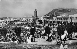 AGADIR- VUE SUR LE SOUK DE TALBORDJT ET LA CASBAH - Agadir