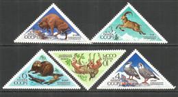 Russia USSR 1973 Year, Mint Stamps MNH (**) , Mi.# 4137-41 Birds Animals - Nuevos