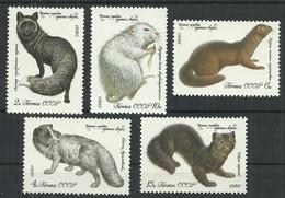 Russia USSR 1980 Year, Mint Stamps MNH (**) , Mi.# 4968-72 Animals - Nuevos