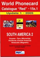 WORLD PHONECARD-RED-15B.1 SOUTH AMERICA 2 - Books & CDs