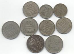 ALGERIE 20 FRANCS 1946 +1956 + 50 FRANCS 1949 + 100 FRANCS 1950 + 1952 SOIT 9 PIECES - Algerien