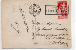 Timbro Particolare Su Cartolina - FUHRER  DUX - MAGGIO 1938 - VIAGGIATA - Poststempel