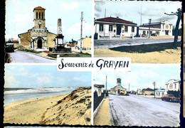 Cpsm Du 33 Souvenir De Grayan    DEC19-53 - Andere Gemeenten