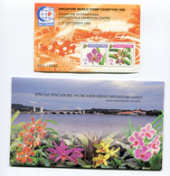 "Singapur - Block Nr. 35 A I - ""SINGAPORE`95 / Orchideen (VI)"" ** / MNH (aus Dem Jahr 1995) - Singapore (1959-...)"