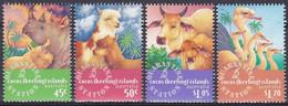 Kokos-Inseln Cocos Keeling 1996 Tiere Animals Nutztiere Nashorn Rhino Strauß Rinder Cattle Alpaka, Mi. 346-9 ** - Cocoseilanden
