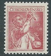 1954 CECOSLOVACCHIA IL LAVORO 3 K MNH ** - RC19-3 - Unused Stamps
