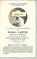 MILAIRE - Frédéric LANVIN , Sergent Au 27° D'Inf. , + Le 30/7/1916 à Souville à 21 Ans , Voir Citation - Obituary Notices