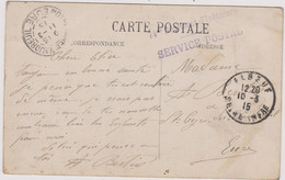 14/18 - Elbeuf - 74e Régiment D'Infanterie - Service Postal - Griffe Linéaire - Seine Inférieure - Normandie - Wars