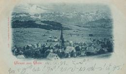 Gais - Gruss Aus ... Blaue Litho + 1898 - AR Appenzell Rhodes-Extérieures