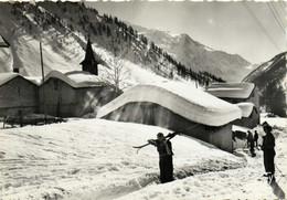 CPSM  Grand Format MONTROC LE TOUR (Hte Savoie) Paysage D' Hiver ,chaine Du Mont Blanc Recto Verso - Andere Gemeenten