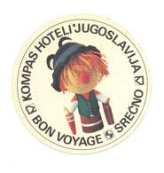 KOMPAS HOTELI YUGOSLAVIA RR - Stickers