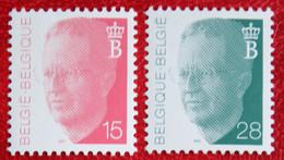 15 + 28 Fr Koning Boudewijn COB 2450 2473 (Mi 2501 2525) 1992 POSTFRIS MNH ** BELGIE BELGIEN BELGIUM - Nuovi