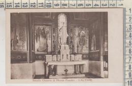 SACELLO OSSARIO DI MONTE PASUBIO L'ALTARE RETRO TIMBRO 1929 - Vicenza