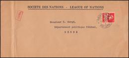 Völkerbund (SDN) 17x Tell Mit Armbrust EF Auf Brief GENF 6.4.1937 Nach Bern - Officials