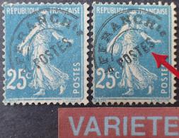 """P266 - 1922/1947 - TYPE SEMEUSE CAMEE - PREO - N°56 + 56b  NEUFS(*)  VARIETE ➤➤➤ """" E """" Avec Crochet - Cote (2020) : 90 € - Abarten: 1921-30 Ungebraucht"""