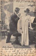 ROMANCE~LOT OF 3 PHOTO POSTCARDS~1903 PSTMK ST MORITZ TO BIRSFELDEN SWITZERLAND POSTCARDS 50816 - Couples