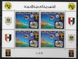 LIBYE  Feuillet  N° 636   * *  Jo  ITU  Espace Satellite Boxe Television Telecommunication - Pugilato