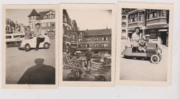 Lot De 3 Photos Format 6 X 9 Cm Heyst Sur Mer Heist Knoke Knokke Vehicules Mitchell - Places